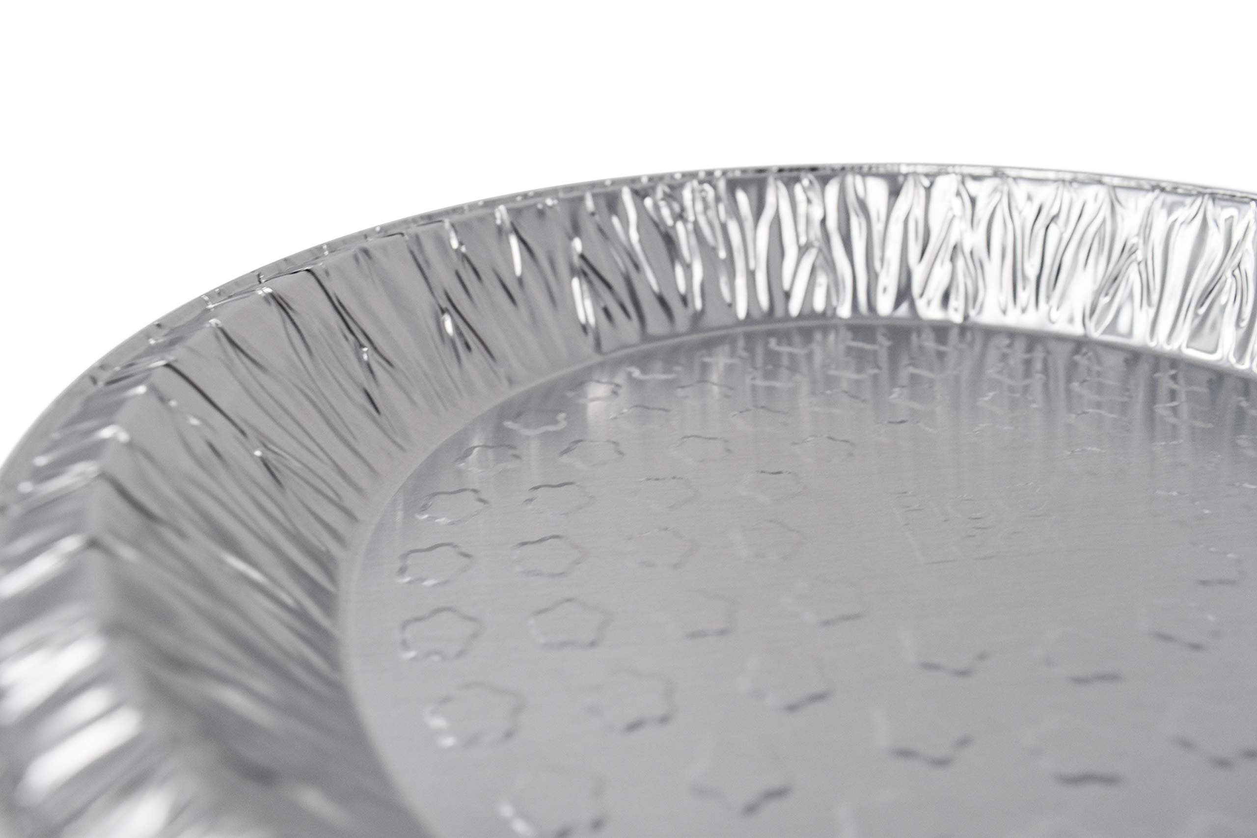 Fig & Leaf (120 Pack) Premium 9-Inch Pie Pans l 36 Gauge l Disposable Tart Pan Tin Plates Aluminum Foil for Baking Quiche by Fig & Leaf (Image #3)