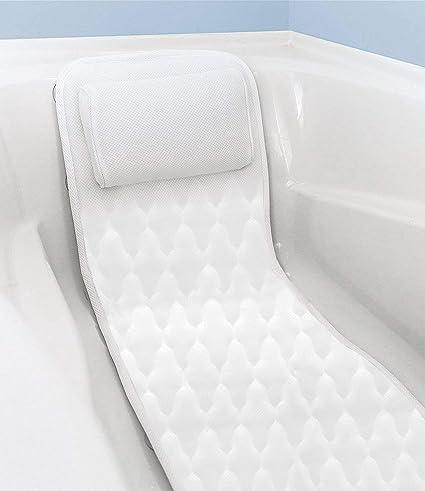 ventouses antid/érapantes wosume Coussin de matelas pour matelas de bain spa corps complet tapis de bain matelass/é doux avec appui-t/ête respirant et confortable