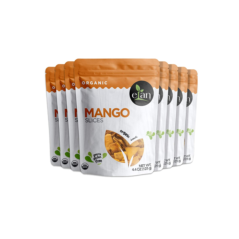 ELAN Organic Dried Mango Slices 8 Pack, 35.2 Oz