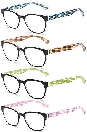 VEVESMUNDO® Lesebrillen Herren Damen Metall Klassische Federscharnier Vollrandbrille Lesehilfe Augenoptik Brille Schwarz Braun Grau 1.0 1.5 2.0 2.5 3.0 3.5 4.0 (Grau, 2.0)