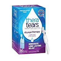TheraTears Eye Drops for Dry Eyes, Dry Eye Therapy Lubricant Eyedrops, Preservative Free, 30 Count Single-Use Vials