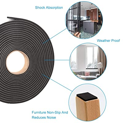 45MM//1.8 Width 5M//16.4ft Length, Transparent Brandzini Weather Stripping Door Seal Strip Clear Silicone Draft Strip Enhanced with Thicker Strip and Stronger Adhesive Tape Backing.