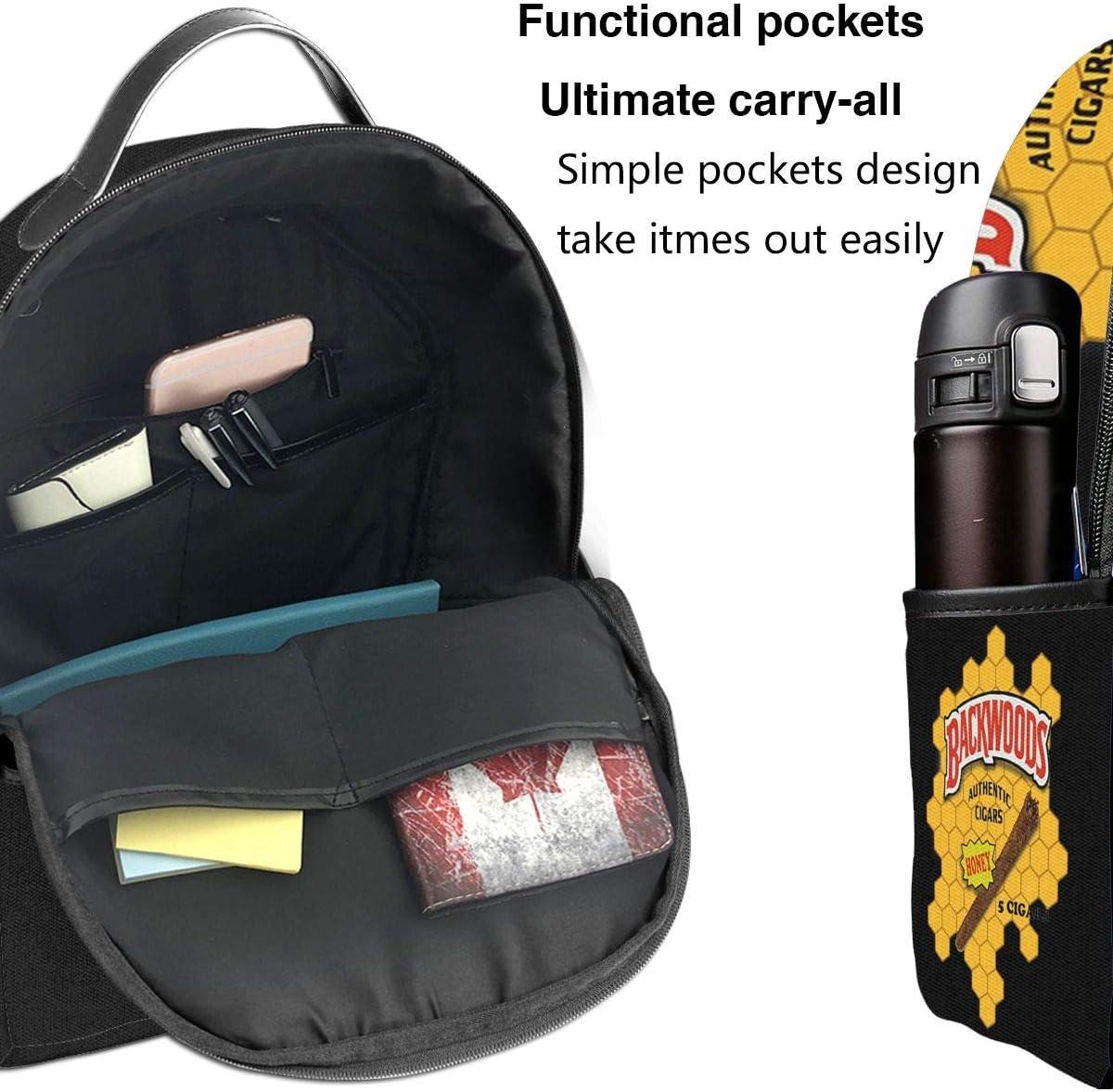 Honey Backwoods Backpack Students Bookbag Schoolbag Casual Daypack For Boys Girls Teens Women Men