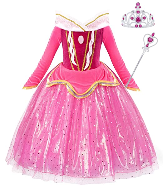 Amazon.com: Jurebecia - Disfraz de princesa Aurora para ...