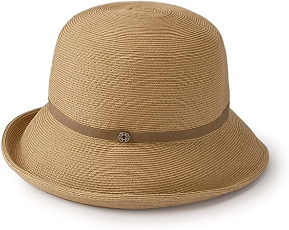 Gorra de domo para mujer Sombrero de paja para sol informal Suave ...