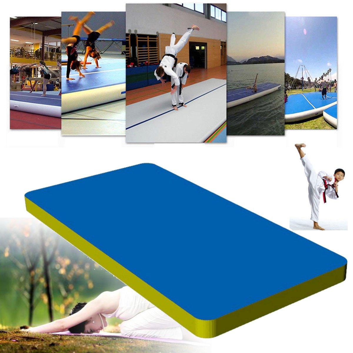 Spessore 20cm 4//5//6m Air Track Da Ginnastica Tappetino Tumbling GONFIABILI turn Tappetino POMPA