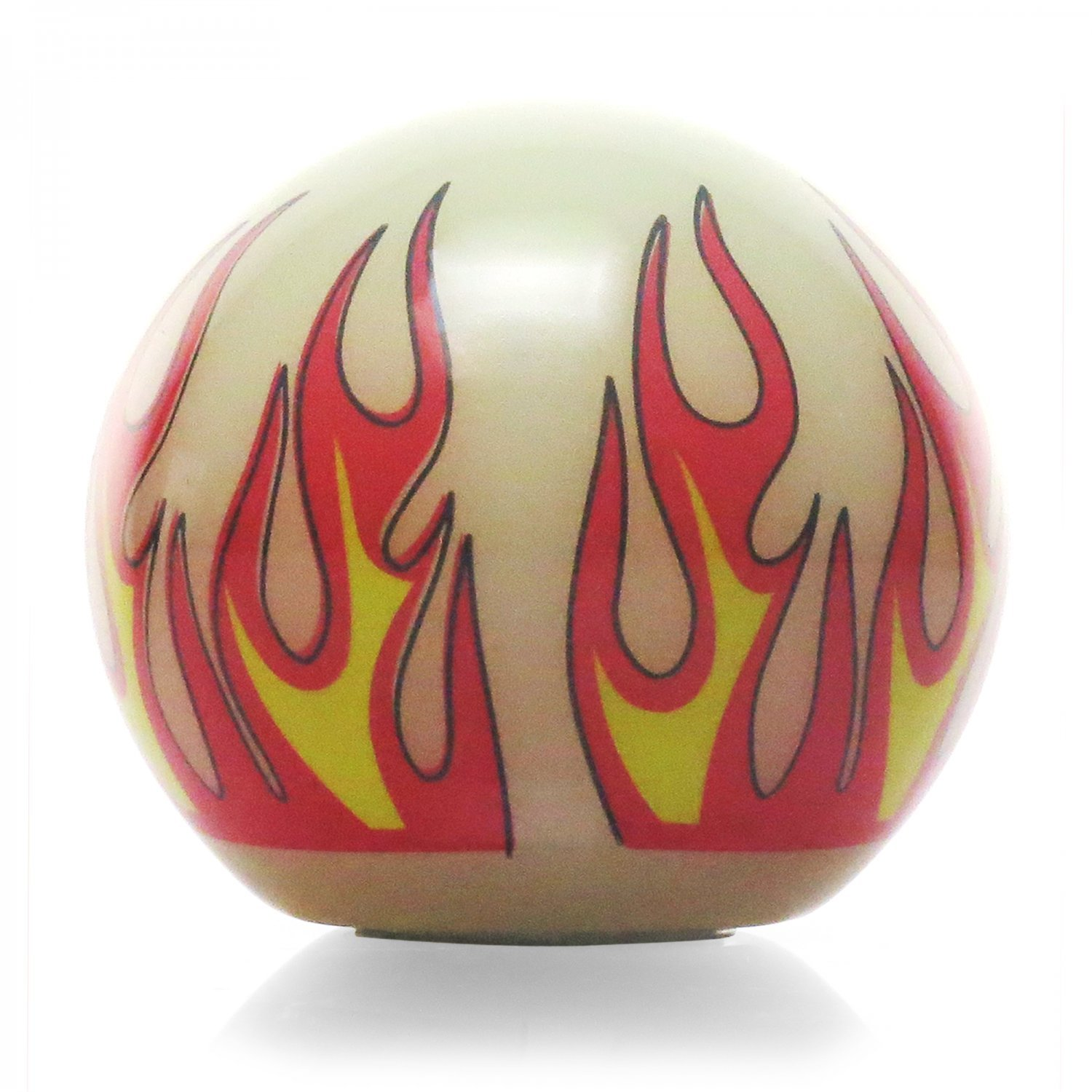 American Shifter 293587 Shift Knob Red 6 Speed Shift Pattern - Dots 41n Ivory Flame