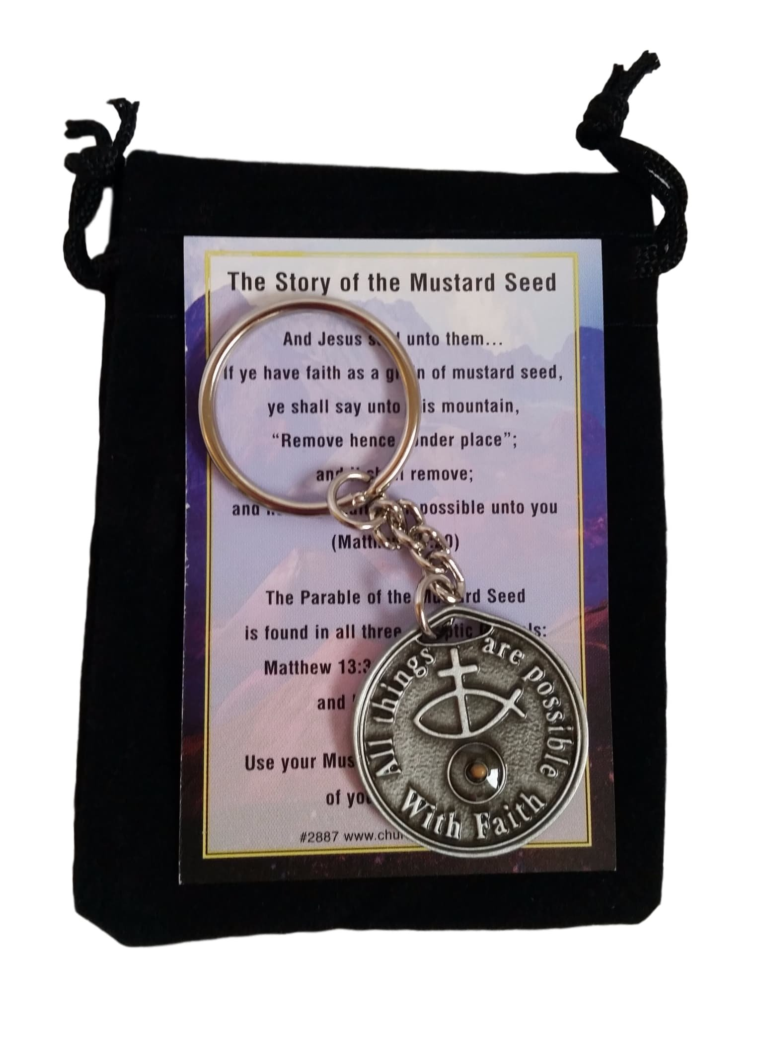 Mustard Seed Keychain - Carry This Keyring as a Reminder of Your Faith by Well Tree