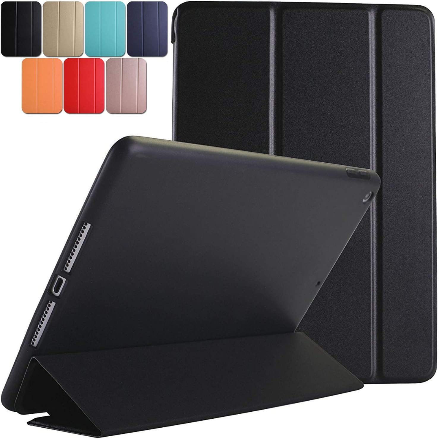 DuraSafe Cases for iPad PRO 11 2020 MY232LL/A MXDC2LL/A MXDE2LL/A MXDG2LL/A MY252LL/A MXDD2LL/A MXDF2LL/A MXDH2LL/A MY332LL/A Ultra Slim Case with Auto Sleep/Wake Function & Classic TPU Back - Black