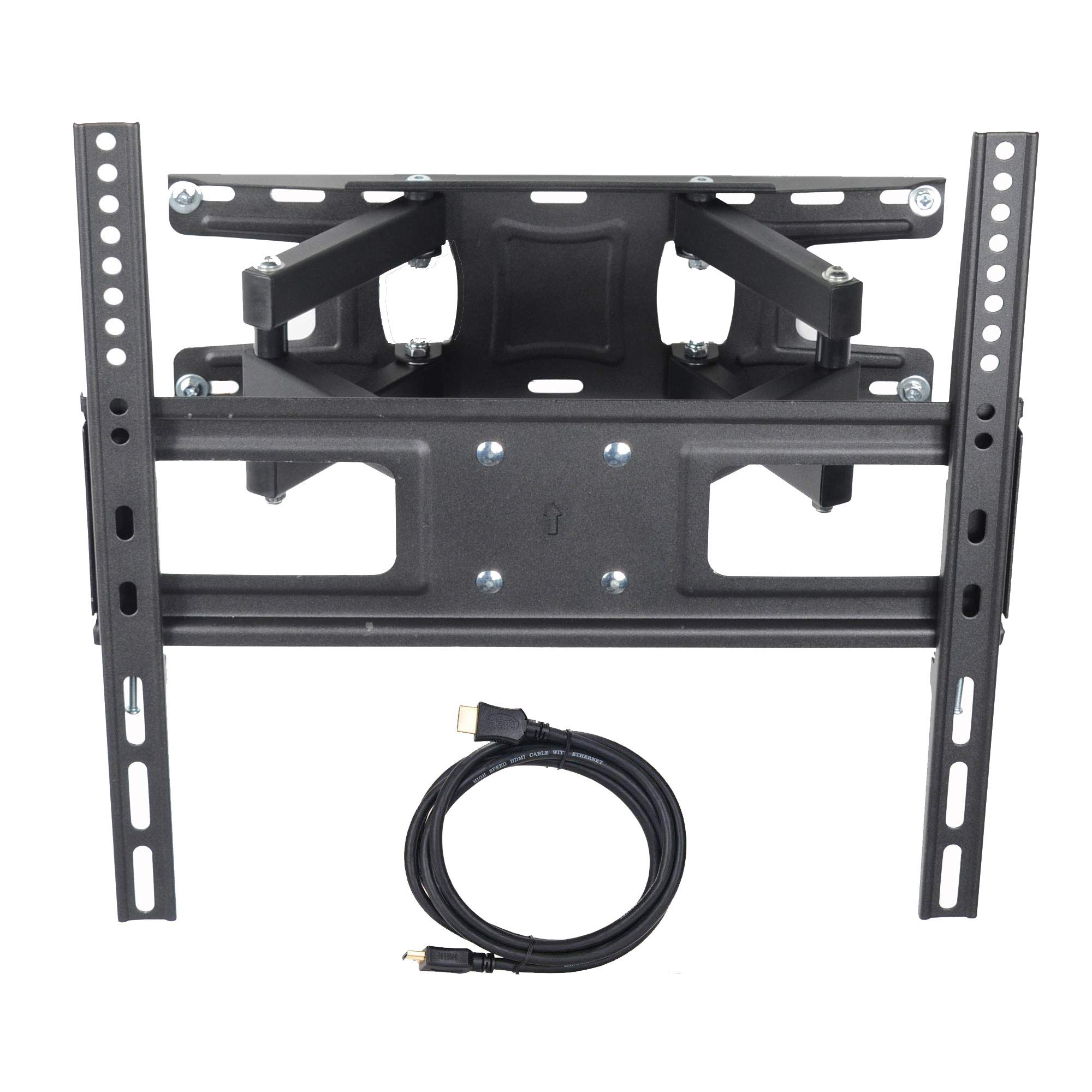 VideoSecu MW340B2 TV Wall Mount Bracket for Most 32-65 Inch LED, LCD, OLED and Plasma Flat Screen TV, with Full Motion Tilt Swivel Articulating Dual Arms 14'' Extend, up to VESA 400x400mm,100 LBS WR9 by VideoSecu