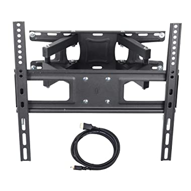 VideoSecu MW340B2 TV Wall Mount Bracket for Most 32-65 Inch LED, LCD, OLED and Plasma Flat Screen TV, with Full Motion Tilt Swivel Articulating Dual Arms 14  Extend, up to VESA 400x400mm,100 LBS WR9