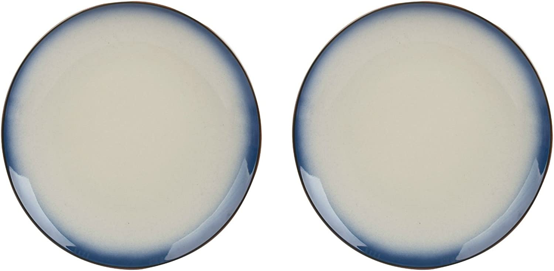 Set of 2 20.5 cm Creative Tops Drift Blue Ombr/Ã/© Ceramic Side Plates