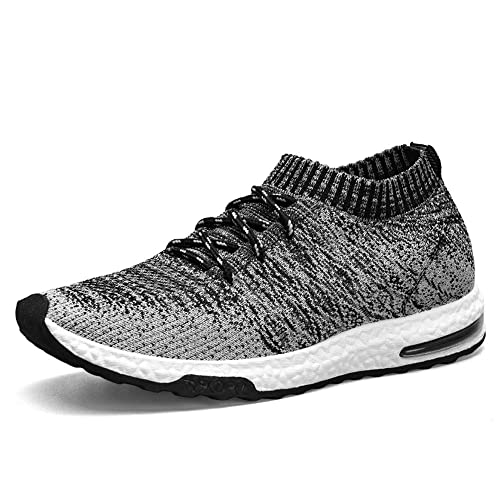 49b846d630f1 TUCSSON Mens Trainers Flyknit Air Sneakers Fitness Mesh Lightweight Sports  Running Shoes Gym Walking Trainers Shoes