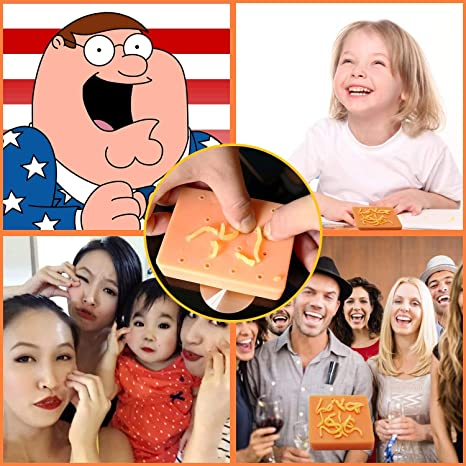 Popping Pimples Funny Gift-Stress Relief Novelty Toy Peach Pimple Popping Funny Toy Stop Picking Your Face White Elephant Gag Gifts Funny for Christmas Yellow