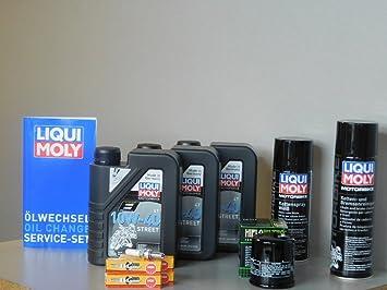 Mantenimiento Set Yamaha FZ8 Fazer aceite de aceite Bujía Service Inspección ölwechsel: Amazon.es: Coche y moto
