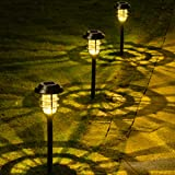 Solpex 8 Pack Solar Lights Outdoor, Warm White Solar Landscape Lights, Waterproof Outdoor Solar Lights Walkway for Patio…
