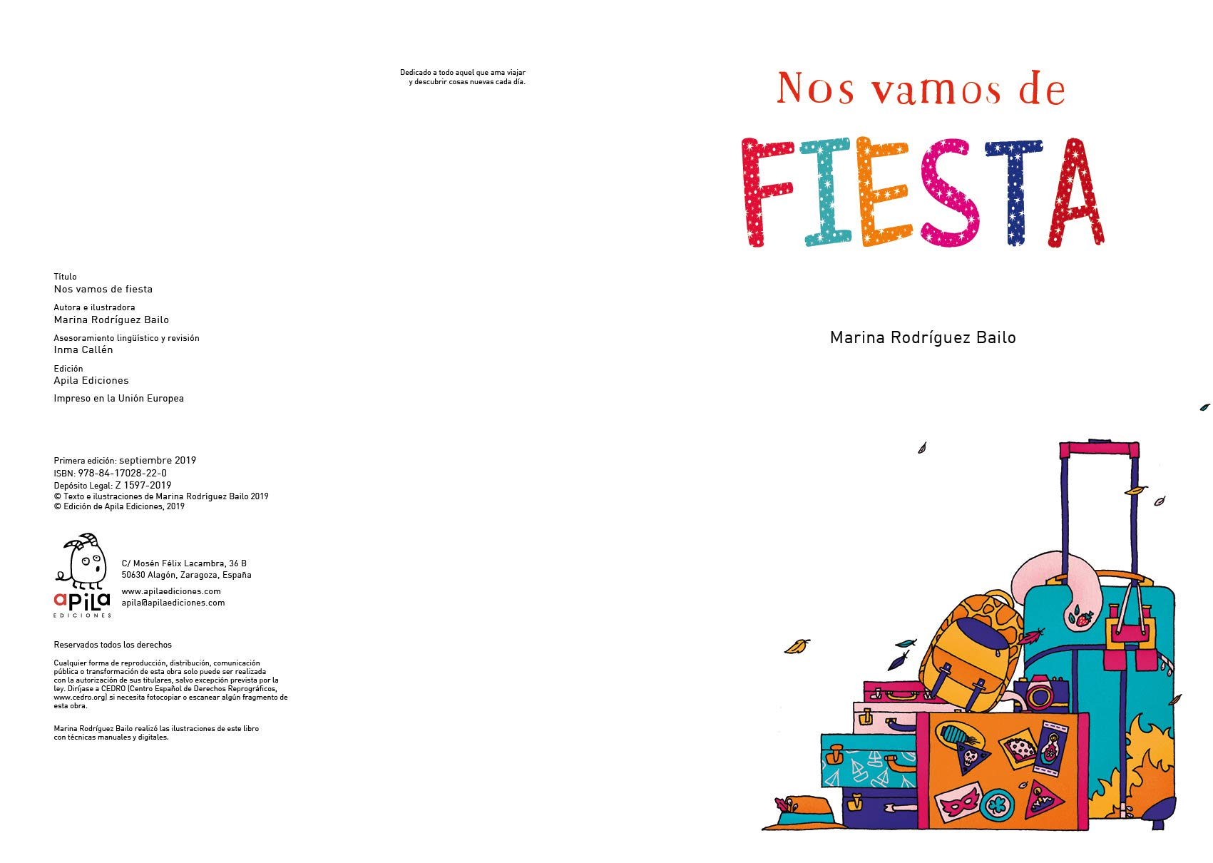 Nos Vamos de Fiesta: Amazon.es: Rodríguez Bailo, Marina, Flores Marco, Eduardo, Garrido Martos, Raquel, Callén Romero, Inmaculada: Libros