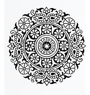 Round Mandala Medallion Reusable Stencil A3 A4 A5 /& Bigger Sizes Wall Decor PVC Reusable Stencil, A5 Size - 148 x 210 mm, 5.8 x 8.3 in. M3