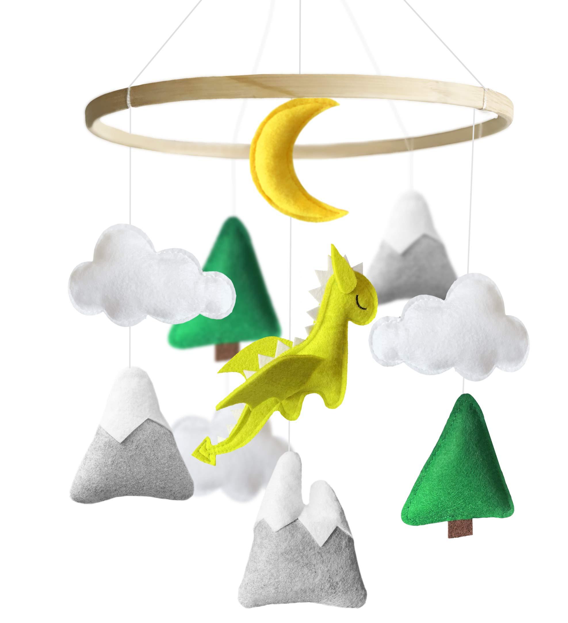 Baby Unisex Dragon Mobile for Crib Room Decor Nursery Baby Shower Gift