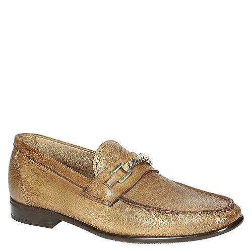 Mocasines de Cuero Hechos a Mano en Madera de Grano Entero para Hombres: Amazon.es: Zapatos y complementos