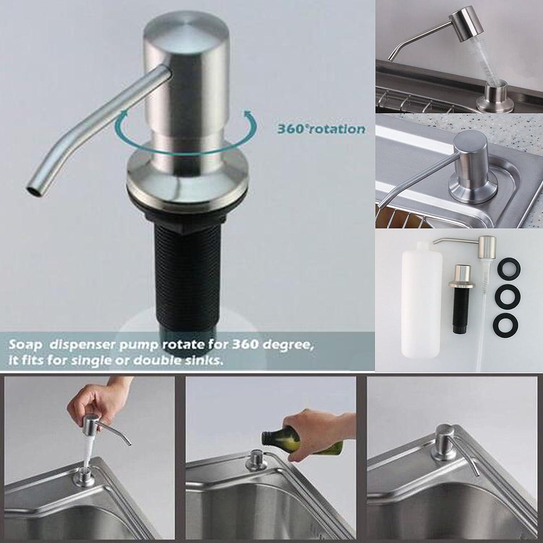Stainless Steel Built in Pump Kitchen Sink Dish Soap Dispenser