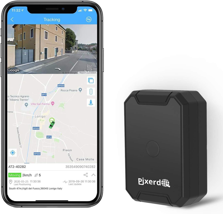 AT1 GPS Tracker Magnético Fuerte 6000mAh, Mini Portátil Localizador GPS con GPS en Tiempo Real de Rastreo y Alarma Antirrobo para Coche Motocicleta Camiones Niños Aplicación Gratuita