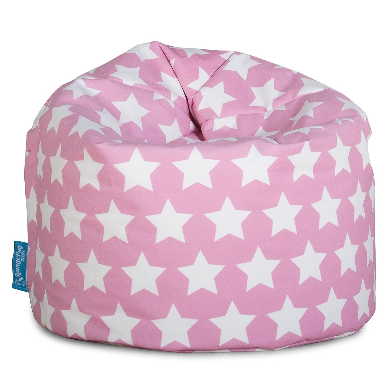 Lounge Pug®, Sitzsack Kinder, Kindersessel, Druck Pink Star