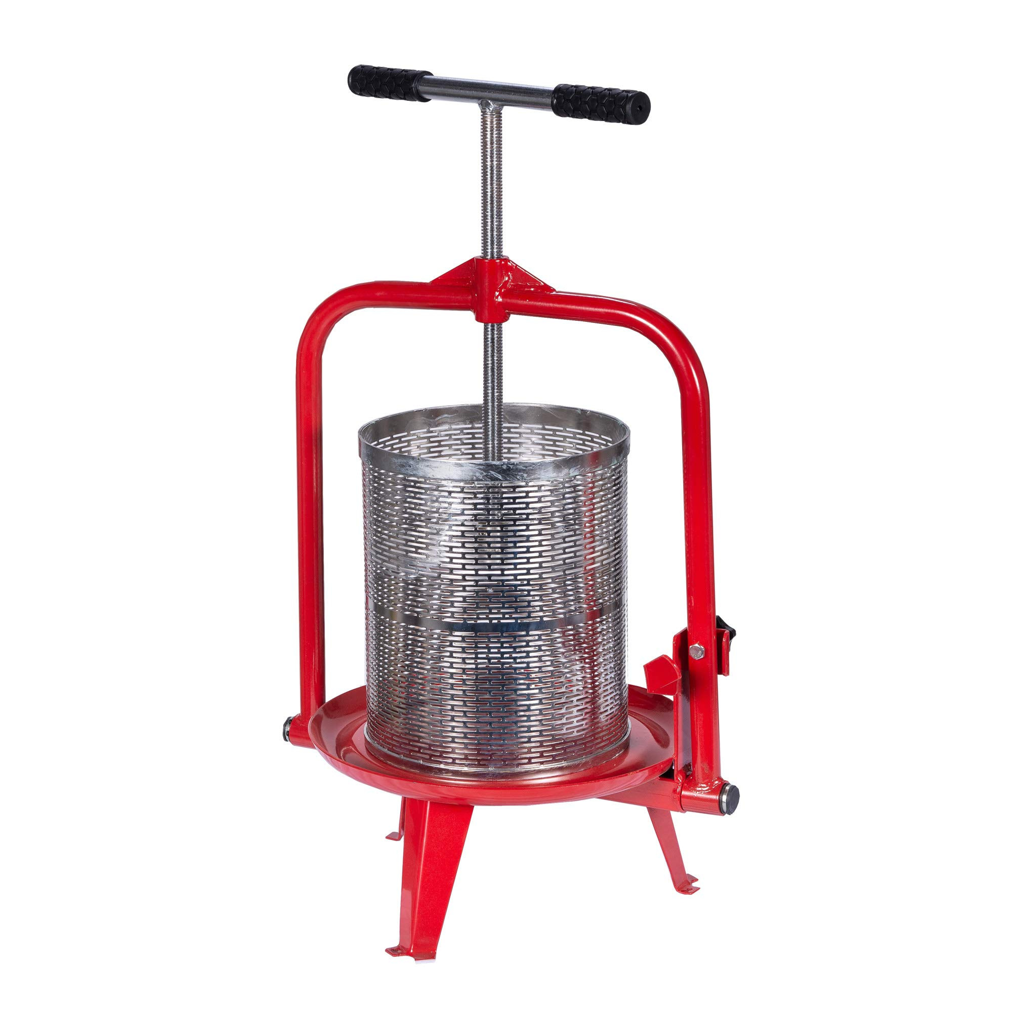 14 Liter (3.75 Gallon) Fruit Press - New Larger Stainless Pressing Plate - Cider, Wine, Grape, Apple Press, For Apple Cider, Wine and Juice Making, Stainless Steel, Choose Size by Montimax by Montimax By Green Max Products (Image #7)