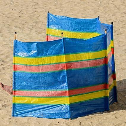 6 Pole Windbreak Windbreaker Camping,Picnic,Beach,Caravan Wind Breakers 4 5
