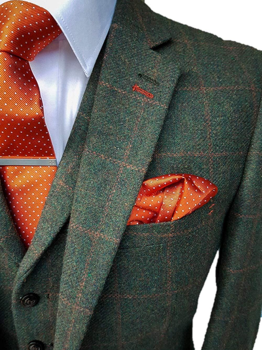 House of Cavani Men's 3 Piece Vintage Tweed Style Check Suit - 1920's Peaky Blinders