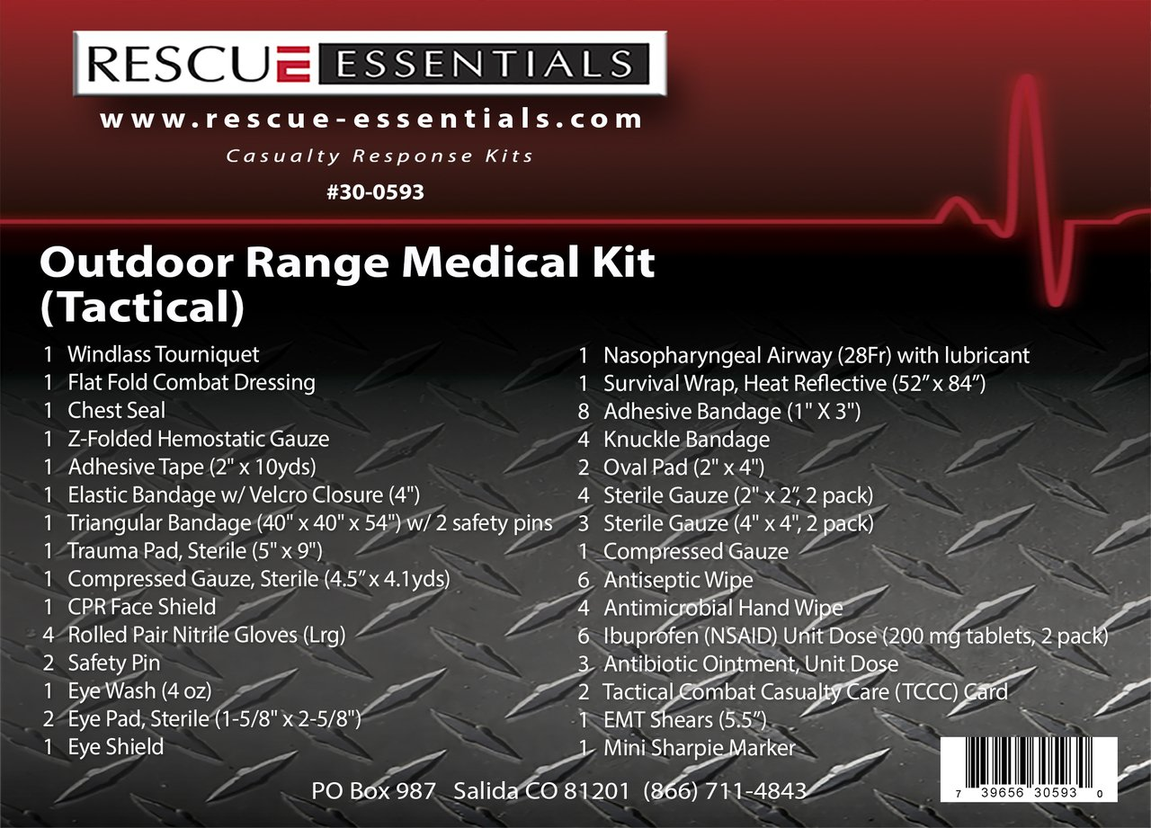 Outdoor Range Medical Kit - Tactical by Rescue Essentials by Rescue Essentials (Image #2)