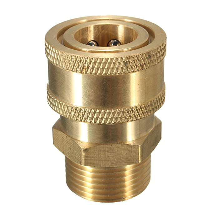 Brass New 1//4 NPT male x 22 mm female Pressure Washer Quick Coupler Connector