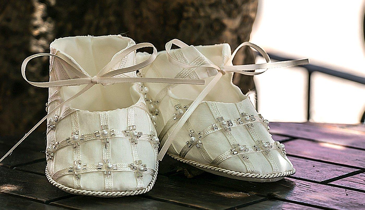 Baby-girls Heirloom Christening Baptism Gown Dress (Burbvus Ropones) Handmade - Silk by Burbvus (Image #3)
