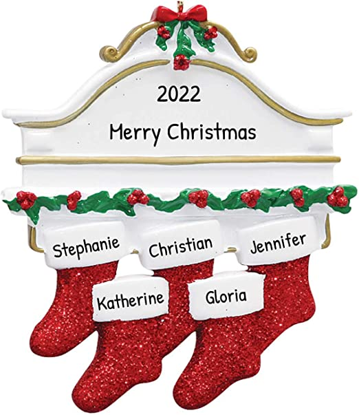 Snl Christmas Ornaments 2020 Amazon.com: Personalized White Mantle Family of 5 Christmas Tree