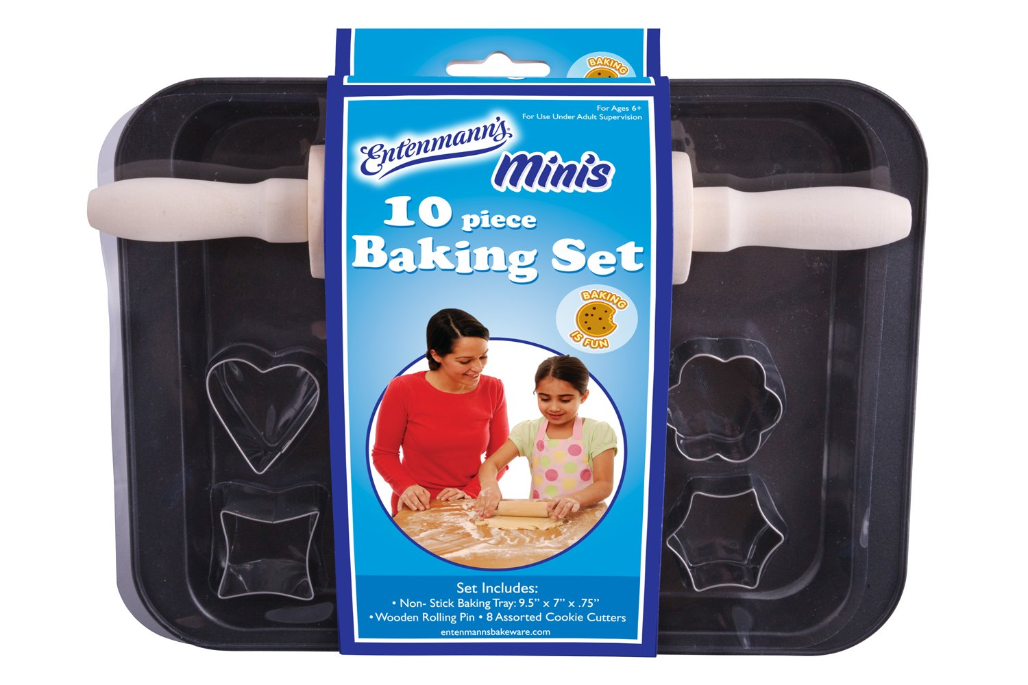 ENTENMANNS BAKEWARE Kids Bake Set, 10-Piece Entemanns Bakeware ENT39003