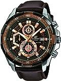 Casio  0 - Reloj de cuarzo para hombre, con correa de cuero, color marrón