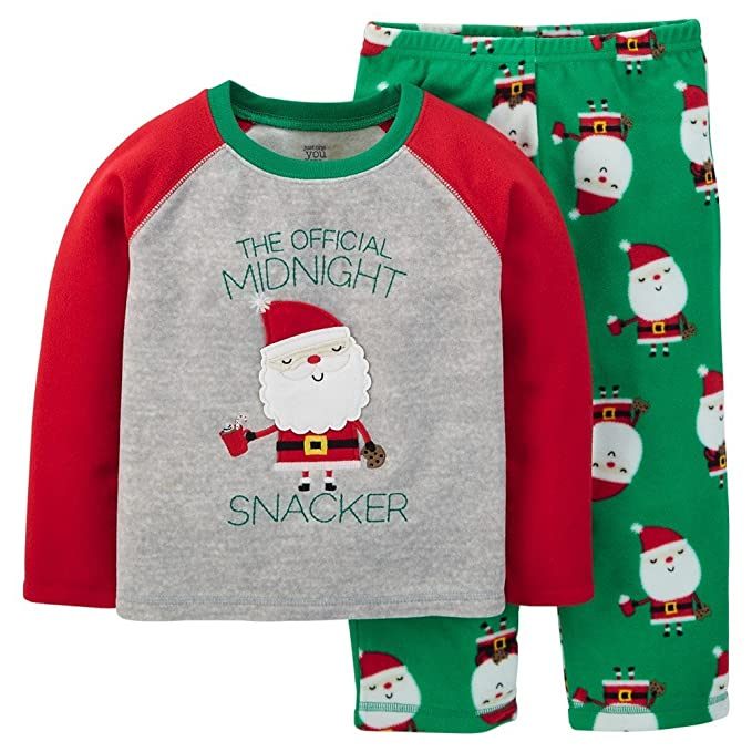 8cb49353bd Just One You By Carter s Unisex-Baby Santa Snacker Pajamas (12 Months)