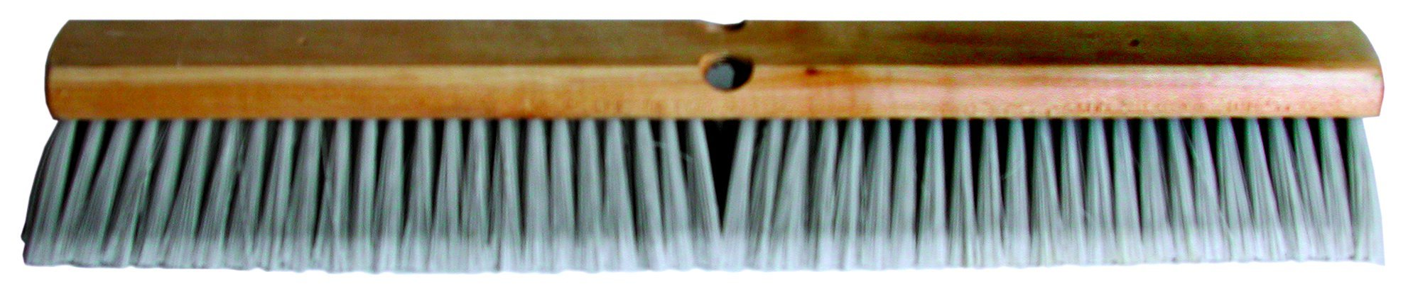 Magnolia Brush 3724 LH Line Floor Brush, Flagged-Tip Plastic Bristles, 3'' Trim, 24'' Length, Silver (Case of 12)