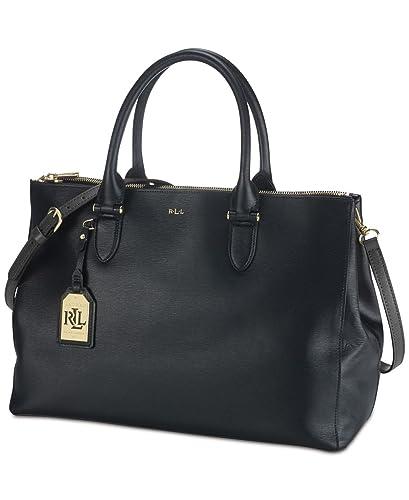 423920de92e Ralph Lauren Newbury Double Zip Satchel Handbag In Black - RRP £280 to  £310  Amazon.co.uk  Shoes   Bags