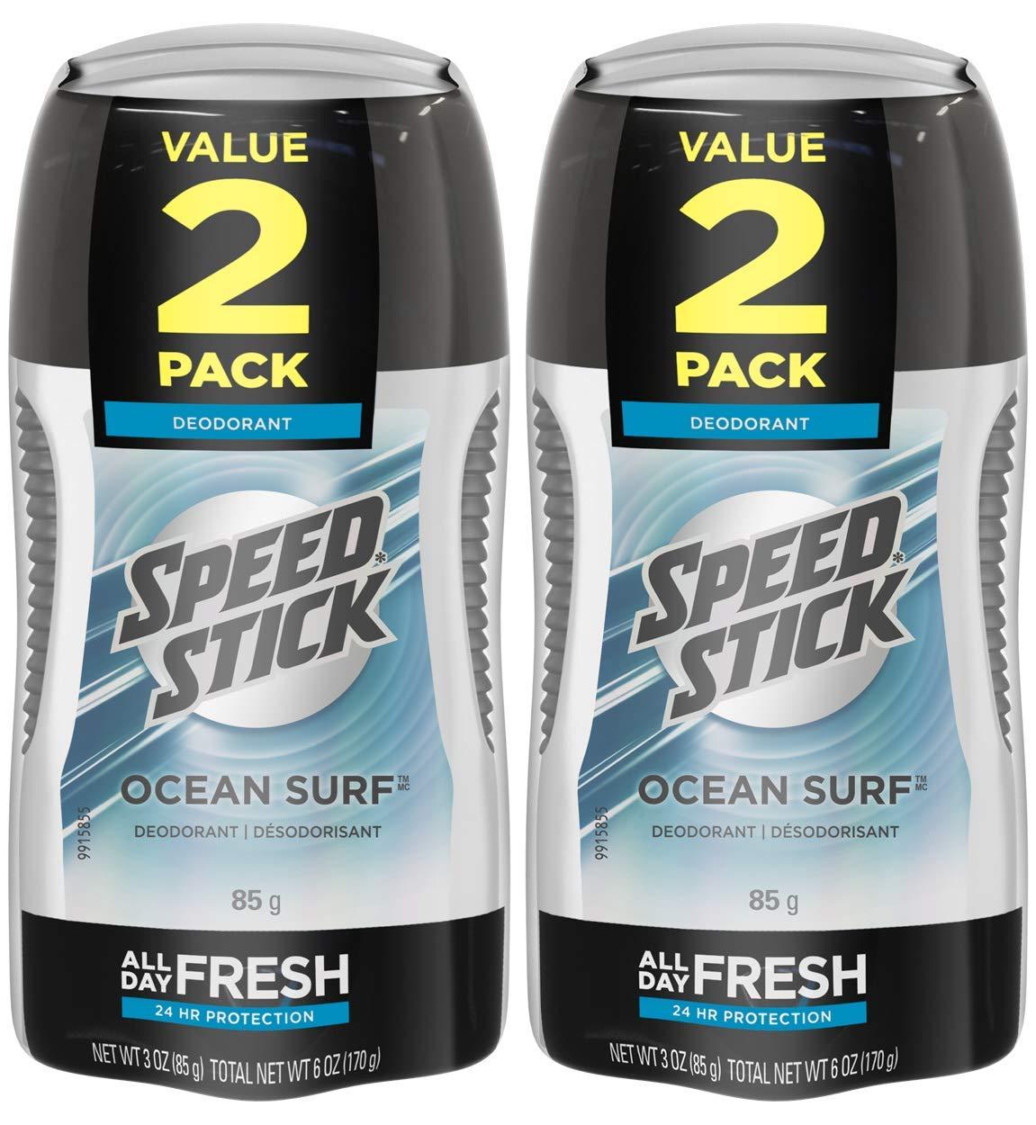 Speed Stick Deodorant for Men, Ocean Surf - 3 Ounce (4 Pack)