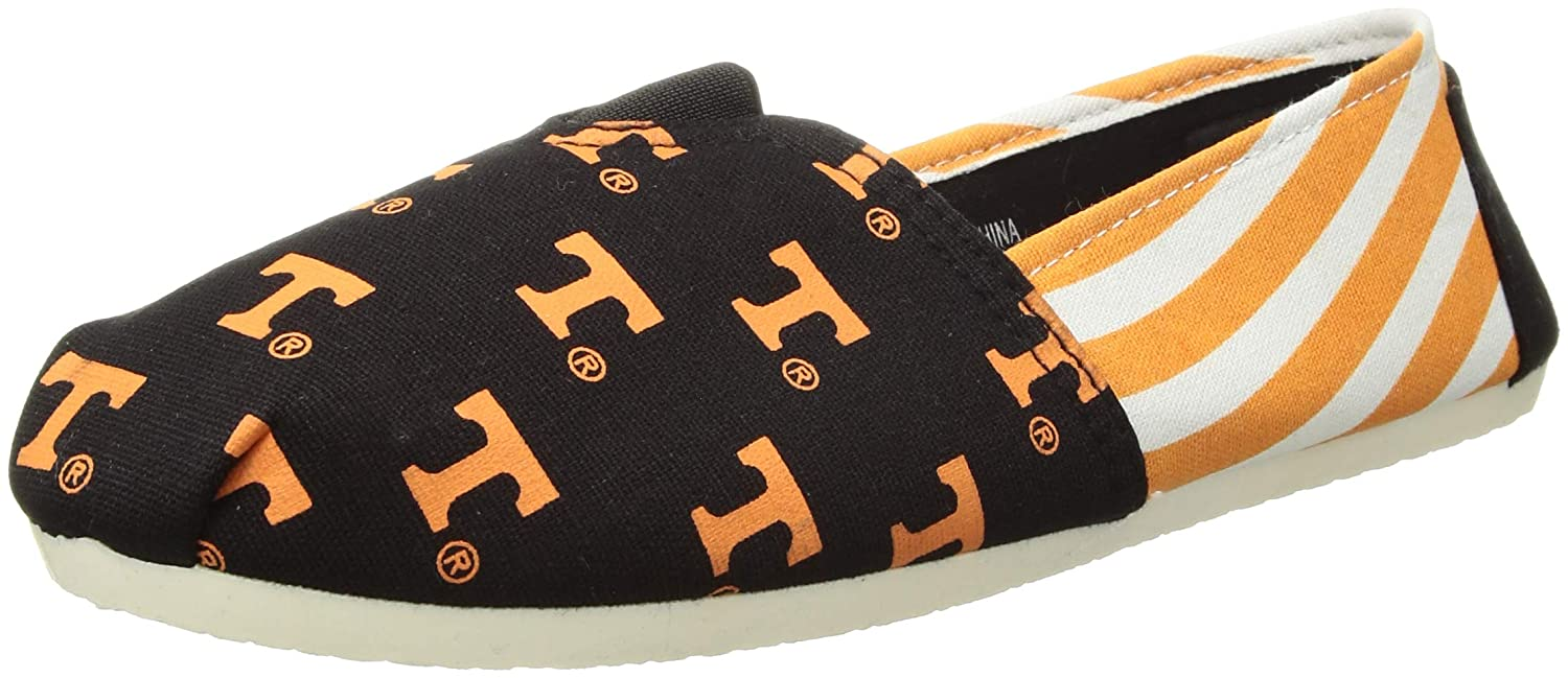 S FOCO Tennessee Volunteers NCAA Womens Stripe Canvas Shoes