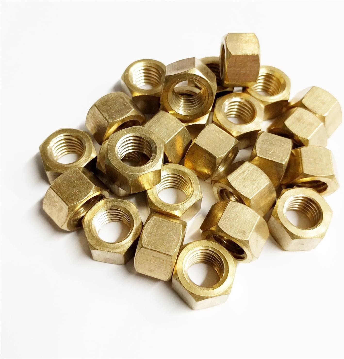 25x Brass Imperial Exhaust Manifold Nut 7//16 UNF High Temperature Nuts