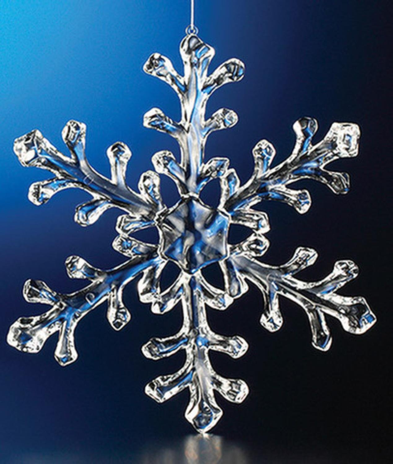 Club Pack of 12 Icy Crystal Decorative Large Christmas Snowflake Ornaments 9.5''