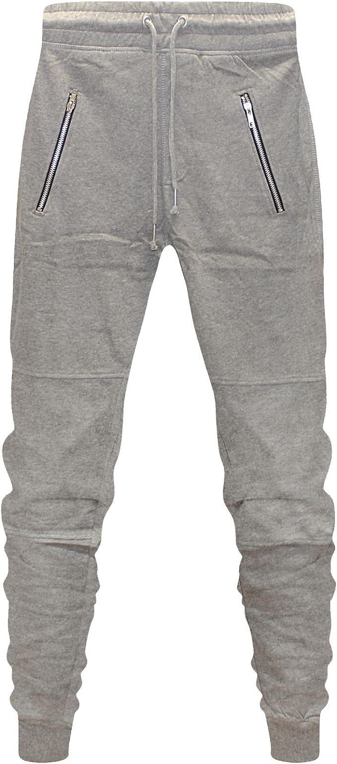 Mens Slim Fit Tracksuit Bottoms Skinny Jogging Joggers Sweat Pants Trousers S M L XL 2XL