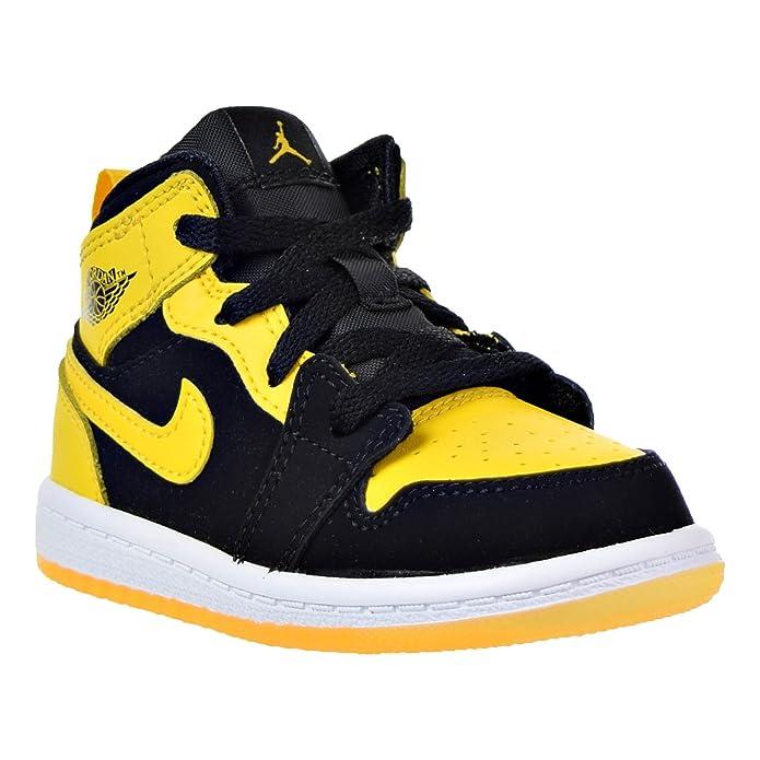 new product fa3bf 9de89 Amazon.com   Jordan 1 Mid BT Infants Toddlers Shoes Black Varsity Maize-White  640735-035   Sneakers