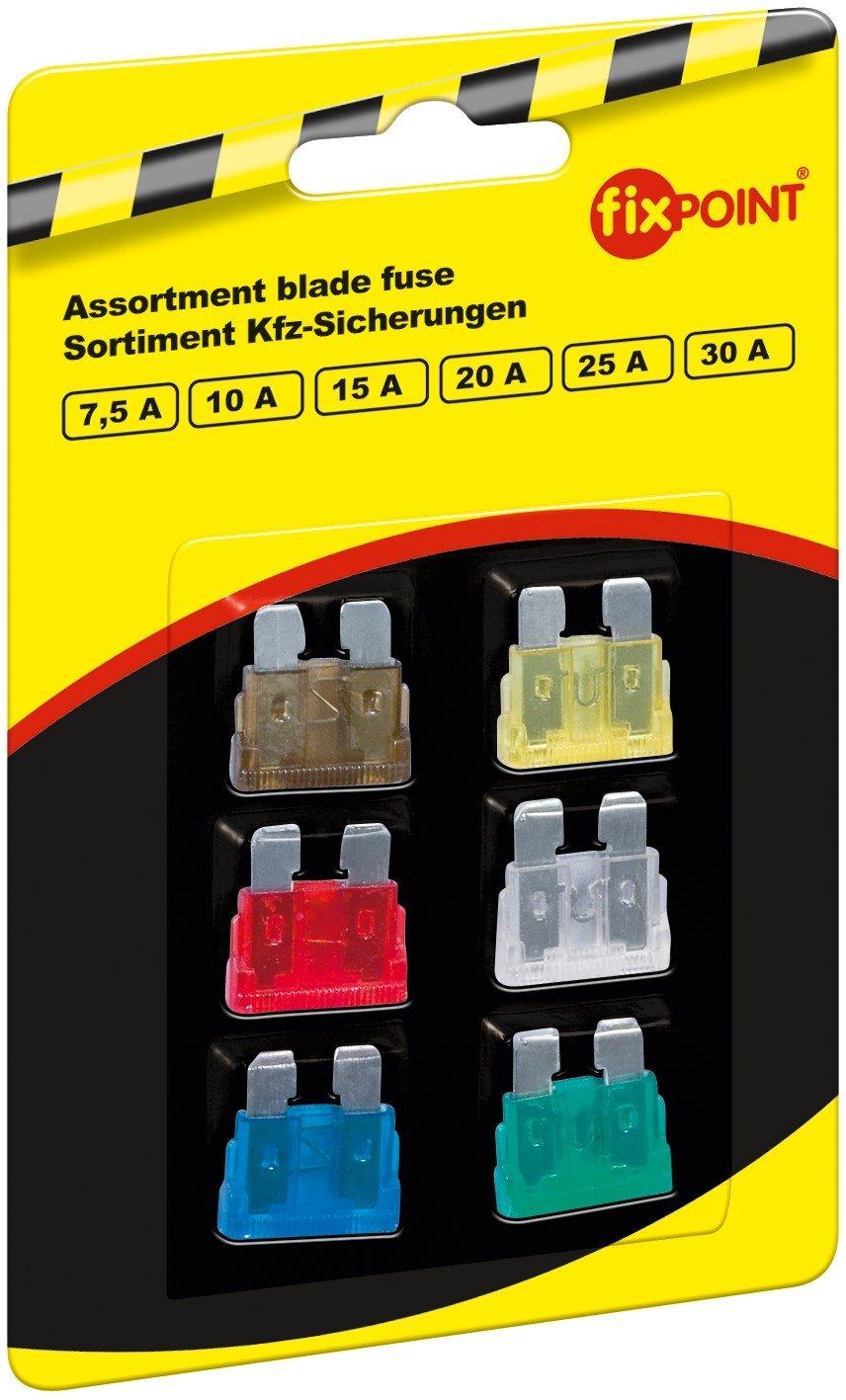 Fixpoint 20343 Sauvegarde Assortiment de fusibles, voiture, 6 piè ces, mini, 1 6pièces Wentronic 20356 1064078