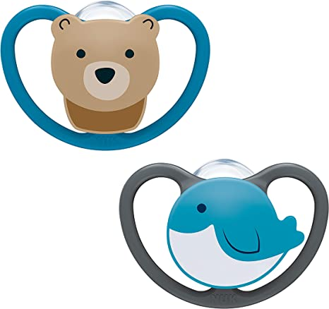 Nuk Pacifier Orthodontic Shape,Pack of 2,B/är /& Wal,0-6 months