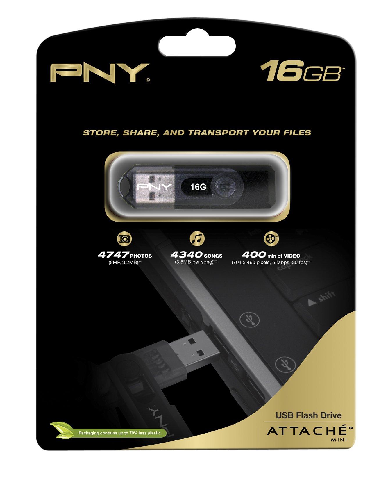 PNY Mini Attaché 16GB USB 2.0 Flash Drive P-FD16G/MINI-EF by PNY (Image #2)