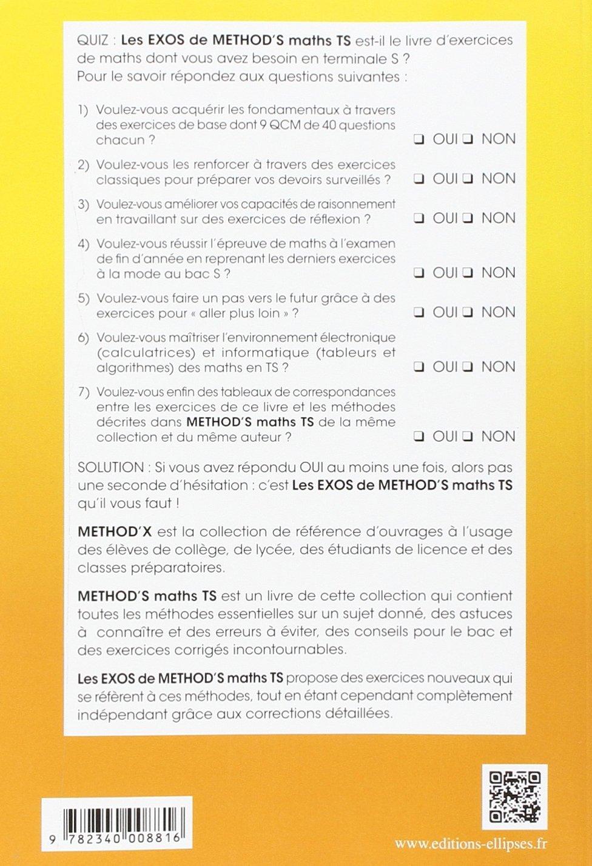 Methods maths, Terminale S (MethodiX): Amazon.es: Bruno Clément: Libros en idiomas extranjeros