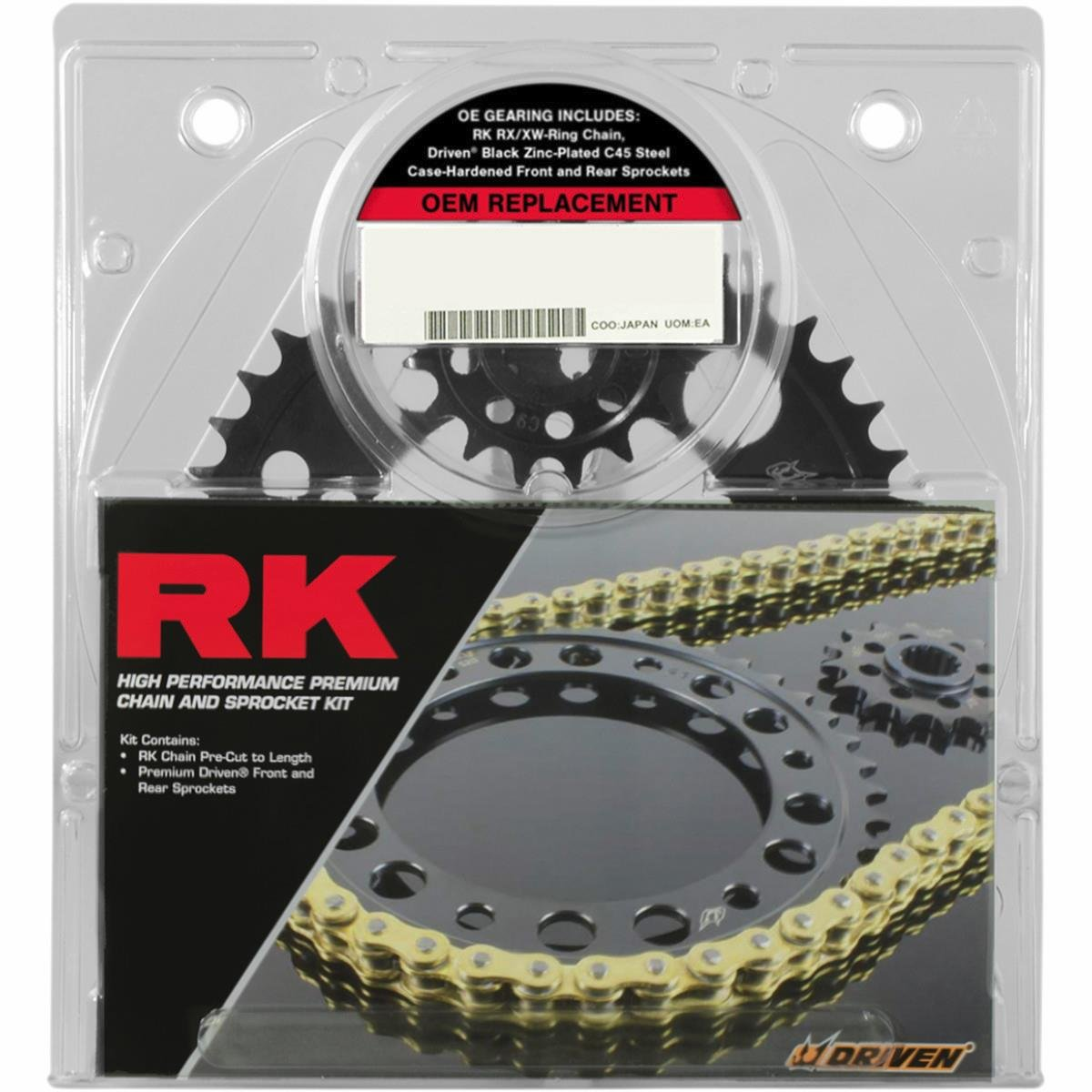 RK OEM Replacement Chain and Sprocket Kit Natural 3068990E